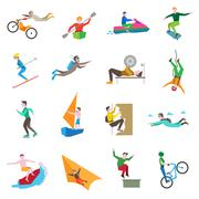 Extreme Sports Icons - stock illustration
