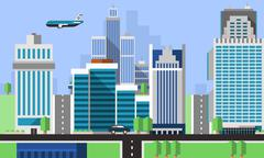 Stock Illustration of Skyscraper Offices Background