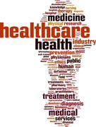 Healthcare word cloud Stock Illustration