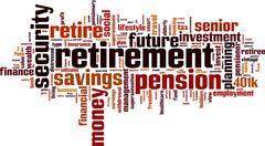 Retirement word cloud Stock Illustration