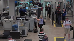 Salt Lake City Utah airport TSA security pat down 4K 010 - stock footage