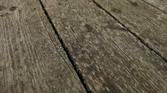 Wooden boardwalk floor Stock Footage