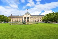 famous casino in wiesbaden - stock photo
