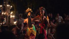 Kecak dance - traditional balinese performance, theatrical show Stock Footage