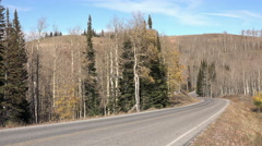 High road Wasatch Mountains Autumn 4K 029 Stock Footage