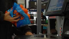 Self check out at walmart Stock Footage