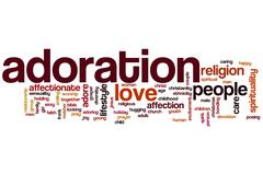 Adoration word cloud Stock Illustration