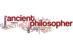 Ancient philosopher word cloud Stock Illustration