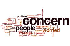 Concern word cloud Stock Illustration