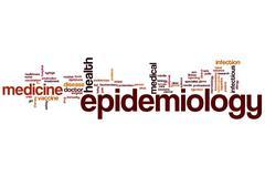 epidemiology word cloud - stock illustration