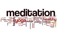 Stock Illustration of meditation word cloud