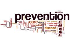 prevention word cloud - stock illustration