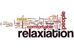 Stock Illustration of relaxation word cloud