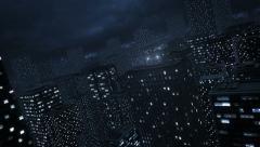 City Night Lights Stock Footage