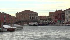 Venice Italy Murano lagoon vaporetto marina 4K 028 Stock Footage