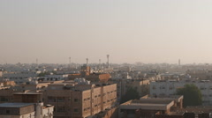 Middle East city view, rooftops, early morning (City of Dammam, Saudi Arabia) Stock Footage