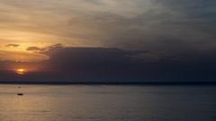 Benidorm spain holiday dawn tourist beach coast sunrise sky Stock Footage