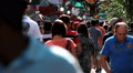 Crowd of people - Sao Paulo Downtown Street, Sao Paulo, Brazil - Commerce Footage