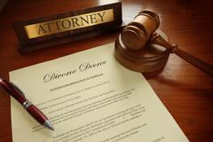 divorce decree - stock photo