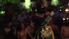 Kecak dance - traditional balinese performance, theatrical show, slow motion Stock Footage