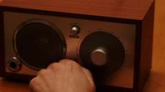 Hand switch on and tune the favorite radio 4k Stock Footage