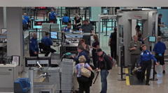 Salt Lake City Utah TSA security check airport fast 4K 011 - stock footage