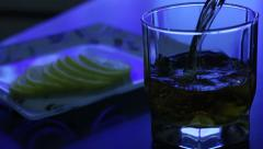 Whiskey poured into a glass Stock Footage