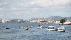 Fishing Ships - Rio de Janeiro - Brazil Stock Footage