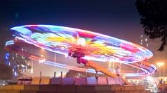 Ferris wheel at the fairground Stock Footage