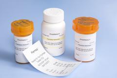 prescription cost - stock photo