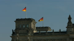 German Reichstag south side Stock Footage