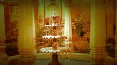 Royal Indian  water fountain inside of palace in rajsthan  Stock Footage