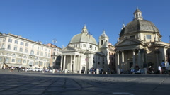 Italy Rome Piazza Popolo time lapse Stock Footage