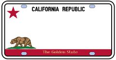 California license plate Stock Illustration