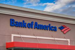 Bank of america exterior Stock Photos