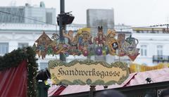 Christmas market on the Hamburg Town Hall Square Stock Photos