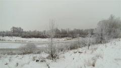 Frozen  trees.  Winter Aerial  in 2.7K (2704x1524) Stock Footage