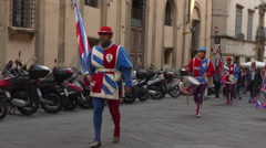 Siena Italy costume parade drummer Corteo Storico 4K 026 Stock Footage
