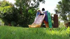 Children play ground Stock Footage