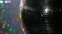 Stock Video Footage of colourful discoball mirrorball glitterball party disco music club rave