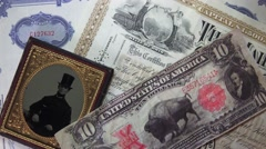 STOCK INVESTORS, 19TH CENTURY, money man Stock Footage