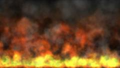 4k Hot Fire burning background,Abstract powerful particle smoke power energy. Stock Footage
