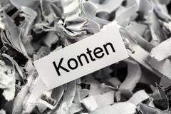 shredded paper accounts keyword - stock photo