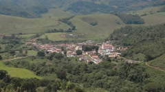 Full View Of Santa Rita do Ibitipoca at Minas Gerais, Brazil Stock Footage