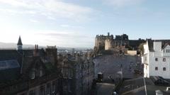 4K Edinburgh Castle in Scotland Stock Footage