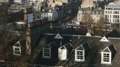 4K Princes Street in Edinburgh, Scotland Stock Footage