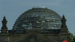 German Reichstag dome close up Stock Footage