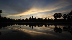 Angkor Wat Sunrise Time Lapse Stock Footage