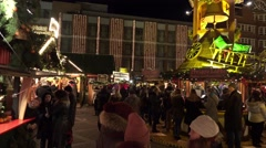 4k Christmas market Hannover panning shot Stock Footage