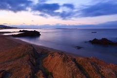 Sunrise beach Stock Photos